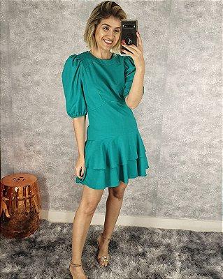 Vestido curto Amanda de linho
