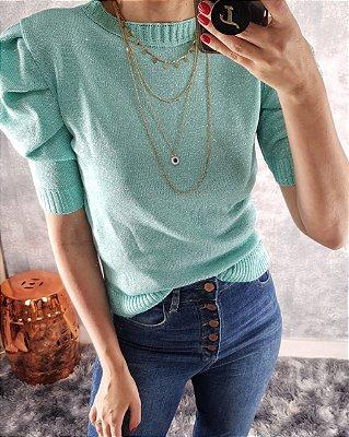 blusa tricot modal lurex