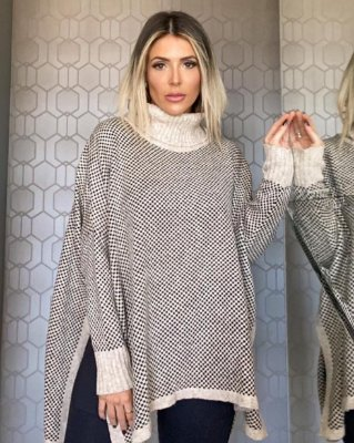Poncho Tricot Fancy