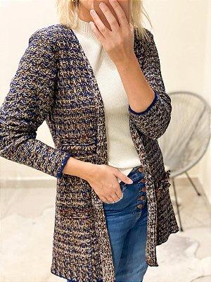 Casaco Tricot Tweed