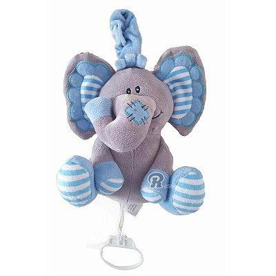 Móbile Musical de Pelúcia Elefantinho - Azul - KitStar