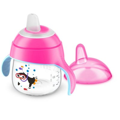 Copo Pinguim Rosa - 200ml - Philips Avent