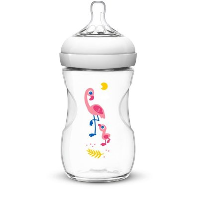 Mamadeira Pétala Decorada - Flamingo - 260ml - Philips Avent