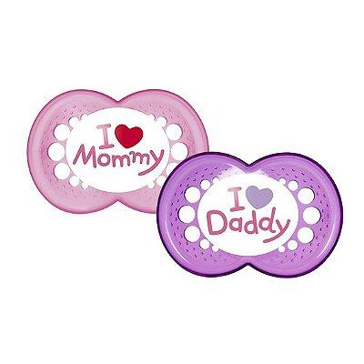 Chupeta Mom & Dad (Meninas a partir de 6 meses) - 2 unidades - MAM-2934