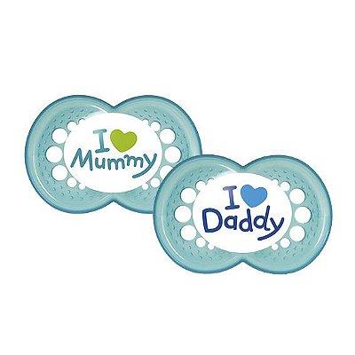 Chupeta Mom & Dad (Meninos a partir de 6 meses) - 2 unidades - MAM-2933