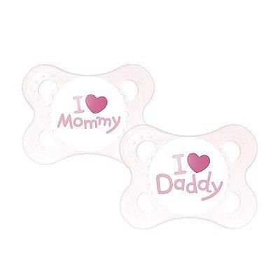 Chupeta Mom & Dad (Meninas 0 a 6 meses) - 2 unidades - MAM-2932