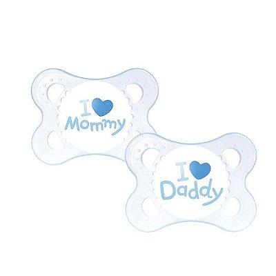 Chupeta Mom & Dad (Meninos 0 a 6 meses) - 2 unidades - MAM-2931