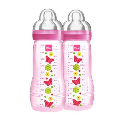 Mamadeira Easy Active - Fashion Bottle - 330ML - PACK DUPLO - GIRLS - MAM-4844