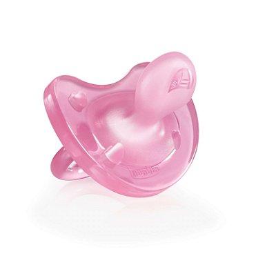 Chupeta de Silicone Physio Soft Rosa 0 a 6 meses - Chicco (CH-271111)