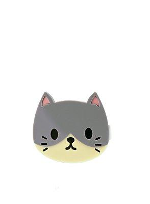 Clipe  gato cinza
