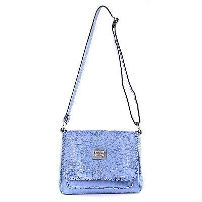 Bolsa Feminina de Couro Legítimo Stephanie Azul Céu