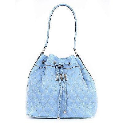 Bolsa Feminina de Couro Legítimo Jasmine azul