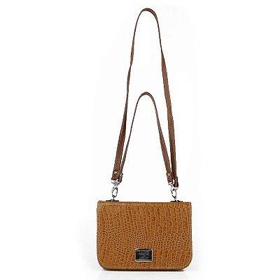 Bolsa de Couro Legítimo Yasmin, caramelo, Absolut Leather