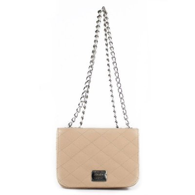 Bolsa de Couro Legítimo Yasmin Nude Absolut Leather