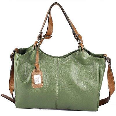 Bolsa de Couro Legítimo Elizabeth, verde