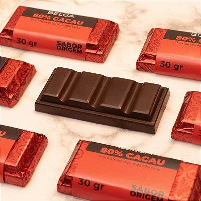 Tablete Chocolate Belga Origem 80% Cacau - 30g
