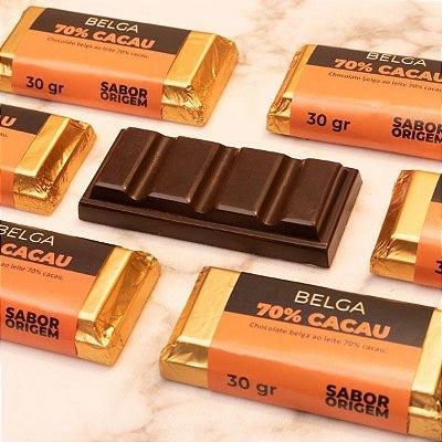 Tablete Chocolate Belga Origem 70% Cacau - 30g