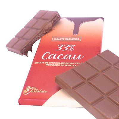 Tablete Delicious Recheado - 33% cacau recheado de nutella
