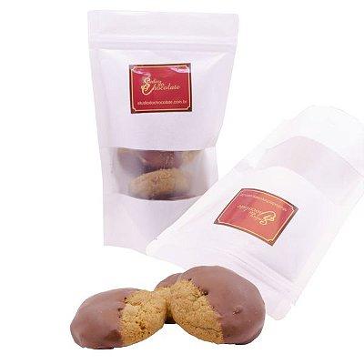 Cookie Baunilha com Gotas de Chocolate Belga 50% Cacau - Banhado