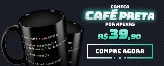 Caneca Função Café Preta