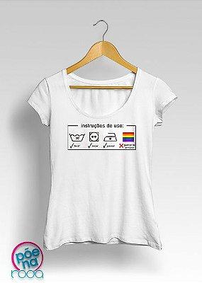 """Camiseta Instruções de Uso """"feminina"""""""