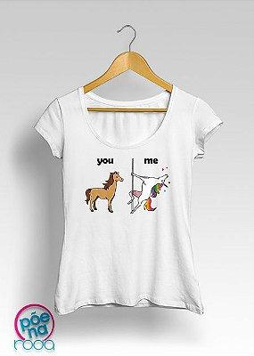 "Camiseta UNICÓRNIO YOU/ME ""Feminina"""