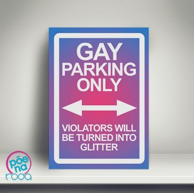 6bb159ca6 Pôster Gay Parking Only