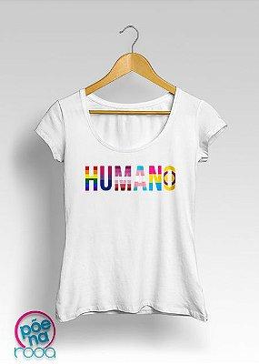 "Camiseta HUMANO Pride ""Feminina"""