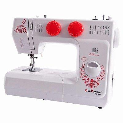 Máquina De Costura Sun Special Ss 988 Sun Lady - 110 vlts  Com passador de linha automatico + KIT DE LINHAS