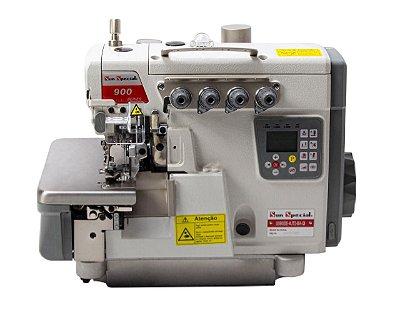 Maquina de Costura Interloque 2 Agulhas Bitola Média Sunspecial  SS-900DE-5UTD-BA-Q- 220 vlts