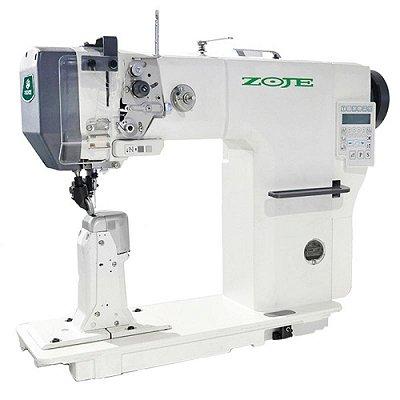 Máquina de Coluna Zoje 1 Agulha Eletrônica Transporte Triplo Pneumática ZJ-9610-D3-M-3 - 220 V