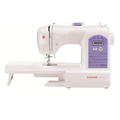 Máquina de Costura Singer Starlet 6680 74 Pontos - Branca/Roxa - 110 VLTS