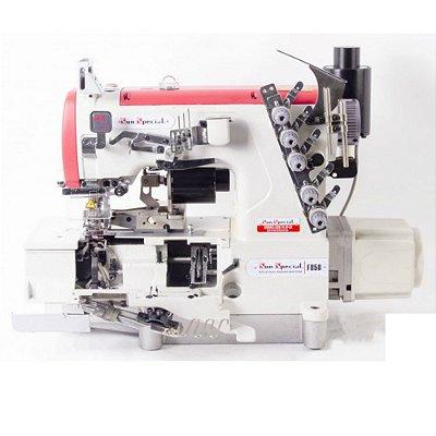 Máquina Galoneira Plana Eletrônica Aberta com Guilhotina Sunspecial SS858-ED-02-BB-TK - 220 V