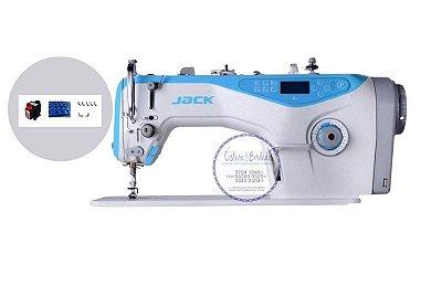 Maquina de Costura Reta Eletronica Jack A4-7 Ponto 7mm - 220 vlts + Kit de Calcadores + BOBINAS EXTRAS