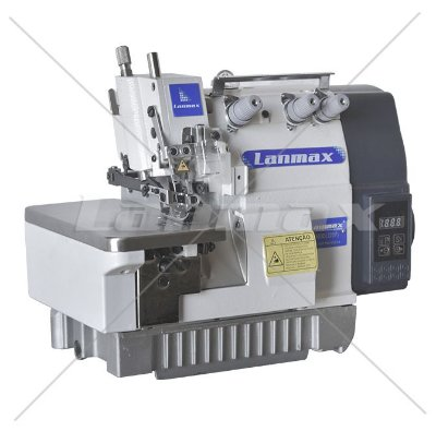 Maquina de Costura de Overloque 1 agulha de Motor Direct Drive Lanmax LM 503D - 110 v