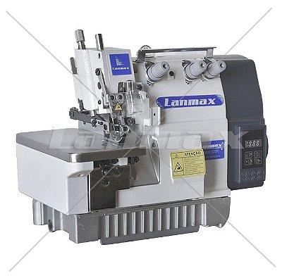 Maquina de Costura de Overloque 1 agulha de Motor Direct Drive Lanmax LM 503D - 220 v