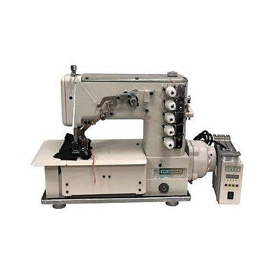Máquina Galoneira Semi industrial 5 Fios Plana Fechada BC5000-D Bracob Motor Direct Drive Autovolt 110/220 V