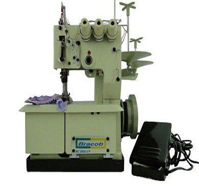 Máquina de costura Galoneira Bracob 3 agulhas semi industrial BC 2600-3 - 220 V