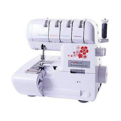 Máquina de Costura Doméstica Overloque Ponto Cadeia Portátil Sun Special  SS320 - 220 V