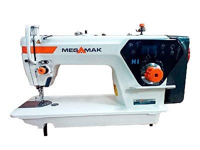 MAQUINA DE COSTURA RETA MOTOR DIRECT DRIVE  MEGAMAK  H1 -220 V COM KIT DE CALCADORES