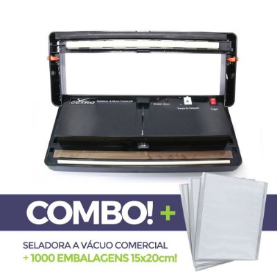Seladora a Vácuo Comercial + 1000 embalagens 15x20
