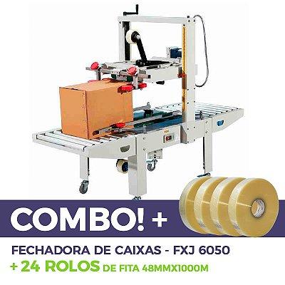 Fechadora de Caixas FXJ-6050 + 24 Fitas
