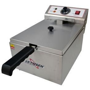Fritadeira Elétrica 1 Cuba - 5,5 litros - INOX