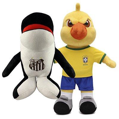 Mascote Canarinho e Mascote Baleia do Santos