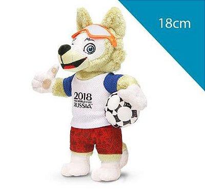 Mascote da Copa 2018 Pelúcia 18cm Zabivaka