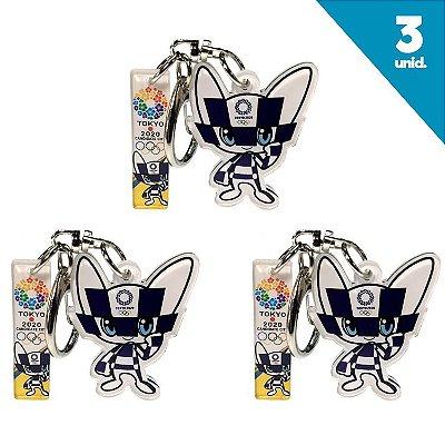 Chaveiro Mascote Olimpiadas Tokio 2020 com 3 unidades
