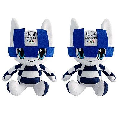 Mascote Olimpíadas 2020/2021 Miraitowa com 02 Pelúcias