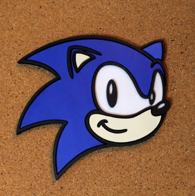 Quadro decorativo Sonic