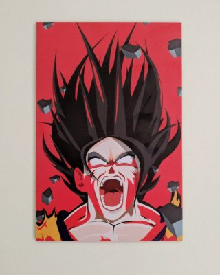 Placa Decorativa Goku