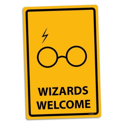 Placa Decorativa Harry Potter: Wizards Welcome